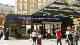 St Pancras International king's cross London united Kingdom stock video