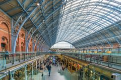 St Pancras International station, London, UK Royalty Free Stock Photography
