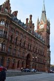 11/03/2018 St Pancras internationella stångstation London Royaltyfri Foto