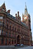 11/03/2018 St Pancras internationella stångstation London Arkivfoton