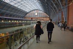 01/04/2018 St Pancras internationella station London Royaltyfri Foto
