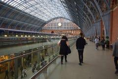 01/04/2018 St Pancras internationella station London Arkivfoto
