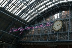 14/04/2018 St Pancras London UK royaltyfri fotografi