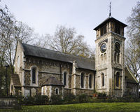 St Pancras Old Church. Near Kings Cross, London UK Stock Photography
