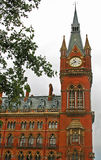 St Pancras railway station clocktower. Close up of the St Pancras railway station clocktower in London, England Stock Photography