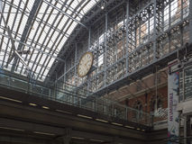 St Pancras railway station interior stock photos