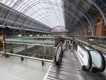 St Pancras railway station interior Royalty Free Stock Photography