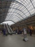 St Pancras railway station interior Stock Photos
