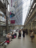 St Pancras railway station interior stock images