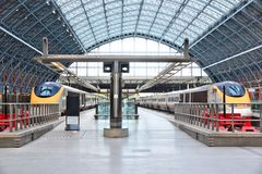 St Pancras railway station Royalty Free Stock Image