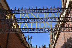 St Pancras railway station sign Stock Image