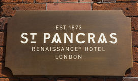 St. Pancras Renaissance Hotel in Kings Cross London Royalty Free Stock Images