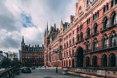 St Pancras renesans, Londyn, St Pancras Obraz Royalty Free