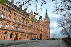 St Pancras station facade royalty free stock images