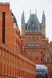 St Pancras Station London from rear Stock Images