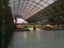 St Pancras stationsplattform Royaltyfri Foto