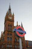 St Pancras with Underground sign Stock Images