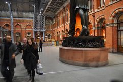 St- Pancrasbahnstation London England Lizenzfreie Stockfotografie