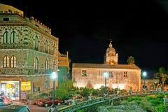 St Pancrazio广场在陶尔米纳 免版税库存图片