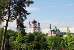 St Panteleimon Cathedral em Kiev imagem de stock