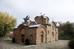 St Panteleimon kerk dichtbij Skopje, Macedonië royalty-vrije stock fotografie