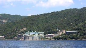 St. Panteleimon Monastery. Holy Mount Athos. stock video