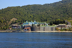 St. Panteleimon monastery, Mount Athos in Halkidiki, Greece Royalty Free Stock Photo