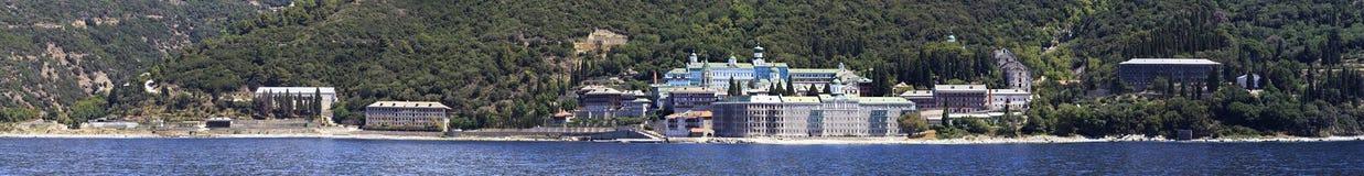 St. Panteleimon Monastery. Mount Athos. Stock Photo
