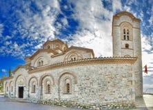 St Pantelejmon - Plaoshnik della chiesa ortodossa in Ocrida, Macedonia fotografia stock libera da diritti