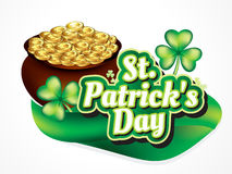 St par tick's Day Background with Coin. Vector illustration Royalty Free Stock Image