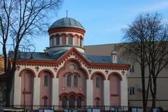 St Paraskeva Church em Vilnius, Lituânia Fotos de Stock Royalty Free
