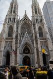 St Partick ` s大教堂在曼哈顿 免版税库存照片