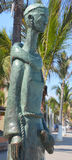 St. Pascual statue. PUERTO VALLARTA MEXICO MAY 07 2016: St. Pascual, Patron of the Cooks, by Ramiz Barquet. honors the chefs of Puerto Vallarta. St. Pascual was Royalty Free Stock Photos
