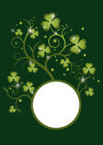 St pat curly frame 5 green Royalty Free Stock Photo