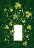 St pat curly frame 5 rays Royalty Free Stock Images
