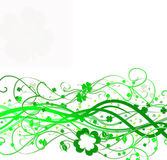 St pat day swirl Royalty Free Stock Photo