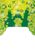 St pat drinkers panel Royalty Free Stock Photography