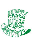 St.Patrcik`s day hat image composed of words tag cloud Royalty Free Stock Images