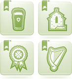St. Patric Day. Celebrating irish St. Patric day concept, included icons from left to right, top to bottom Stock Image