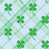 St Patric day pattern with green clover leafs Stock Images