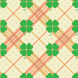 St Patric day pattern with green clover leafs Royalty Free Stock Photography