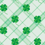 St Patric day pattern with green clover leafs Stock Photography