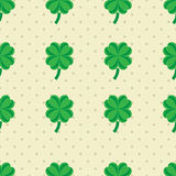 St Patric day pattern with green clover leafs Royalty Free Stock Image