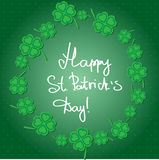 St Patric day pattern with green clover leafs Royalty Free Stock Images