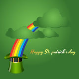 St. Patrick's Day Background with Clouds. Creative Vector Illustration of St. Patrick's Day Background with Clouds Royalty Free Stock Photography