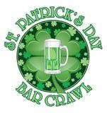 St. Patrick�s Day Bar Crawl Design Stock Photos