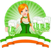 St. Patrick�s Day girl Royalty Free Stock Photography