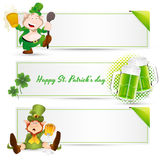 St. Patrick�s Day Leprechaun Banners Royalty Free Stock Image