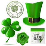 St. Patrick�s Day symbols Stock Images
