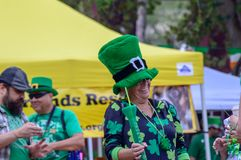 St. Patrick's Parade March 2018 on Las Olas Boulevard Fort Lad royalty free stock photos